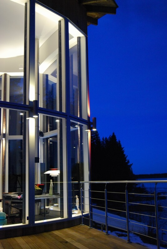 Arkitektritad villa närbild - Creativ Bygg
