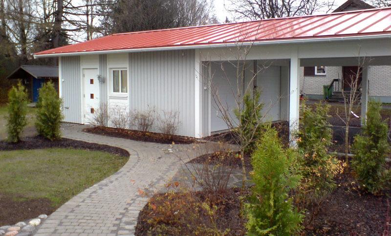 Garage ljusgrått carport - Creativ Bygg