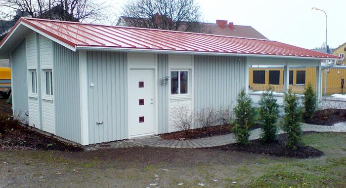 Garage ljusgrått - Creativ Bygg