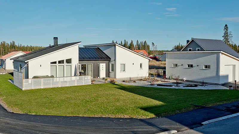 Nyproduktion villa Siriusgatan överblick - Creativ Bygg