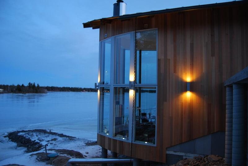 Arkitektritad villa vy sjö - Creativ Bgg
