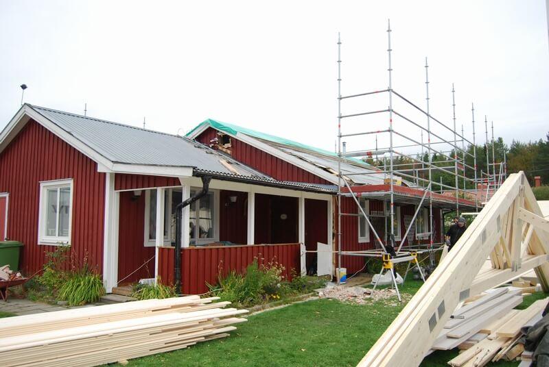 Enplansvilla till tvåplansvilla före - Creativ Bygg